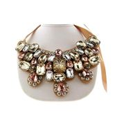 Fantasy Jewelry Bib Necklace Jeweled Bib Necklace